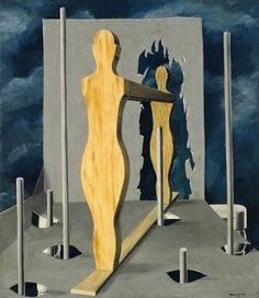 René Magritte - The seer's chamber, 1926 René Magritte 1898 - 1967  More @ FOSTERGINGER At Pinterest