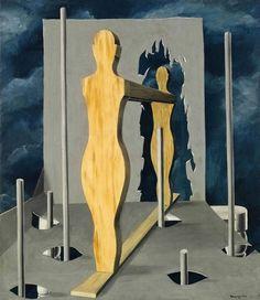 René Magritte - The seer's chamber, 1926 René Magritte 1898 - 1967  More @ FOSTERGINGER At Pinterest