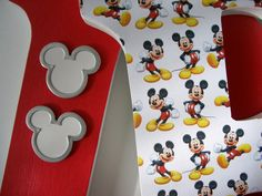 Custom Decorated Wooden Letters MICKEY MOUSE THEME - Nursery Bedroom Home Décor, Wall Decorations, Wood Letters, Personalized Disney. $20.00, via Etsy.