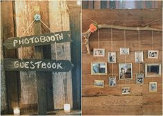 I like the photo display...want to have a backdrop/photo wall!(photo booth)