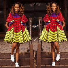 Yes, we are back again with gorgeous Ankara styles and today, we decided to show you how fabulous Ankara print can be! Ankara is so unique on its own and… African Dresses For Women, African Print Dresses, African Print Fashion, African Attire, African Wear, African Fashion Dresses, African Women, Ankara Fashion, African Prints