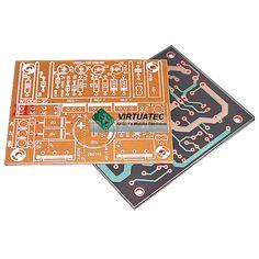 Placa p/ montar fonte ajustável 0~33V com 2X LM317/LM350 + 12V 1A