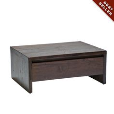 Neo Primitive Low Bed Side Table with Drawer   Warisan