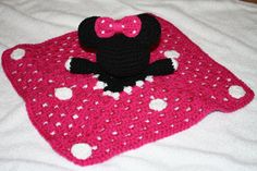 Crochet Minnie Mouse inspired security by TracyplusCrochet on Etsy, $20.00