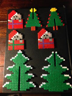 Christmas ornaments hama perler beads by Dorte Marker