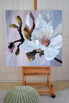 Acrylic Painting Flowers, Abstract Flowers, Acrylic Art, Lotus Flowers, Arte Floral, Painting & Drawing, Painting Steps, Artist Painting, Artist Art