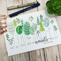 """2,832 Me gusta, 44 comentarios - Leslie Tieu (@leslie.writes.it.all) en Instagram: """"More greenery coming at cha! Played around with some more shapes and leaves. Loving the combo of a…"""""""