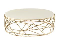 OVAL COFFEE TABLE FOR LIVING ROOM ROSEBUSH EARTH TO EARTH COLLECTION BY GINGER & JAGGER