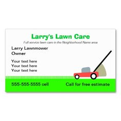 Lawn care Service Business Card | Lawn care, Business and Lawn