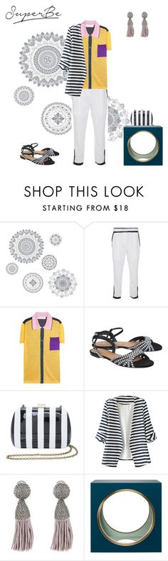"""Almost black and white"" by fabianascalisuperbe on Polyvore featuring WallPops, Cris Barros, Marni, VIcenza, Serpui, WithChic, Oscar de la Renta and The Lacquer Company"