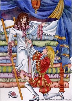 Fairy Tale Illustration Princess And The Pea Drawing - Artist gives italian kindergarten vibrant fairytale makeover