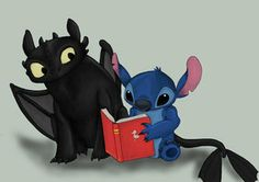 Stitch and Toothless - I personally think they're gonna be good friends!