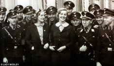 Unity Mitford and her sister Lady Diana Mosley at a 1937 Nazi rally