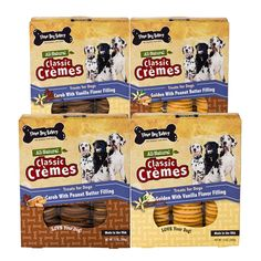 Value Pack of premium all natural healthy dog cookies made with carob, vanilla and peanut butter | Three Dog Bakery