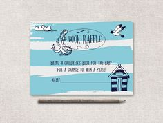 Baby Shower Card Printable ~ Book raffle ticket printable woodland baby shower book raffle