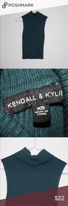 Kendall & Kylie Turtleneck Tank Top This top is in mint condition and is a great quality, unique piece to add to your closet. Kendall & Kylie Tops Tank Tops