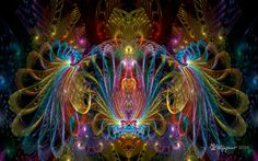 A bright and detailed JW fractal. Created using JWildfire v2.6, enlarged using BenVista PhotoZoom Classic and postwork done in PhotoShop CS5. Orig params name:PW 2 y-sym Spherical Bubble 06-0...