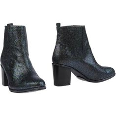 Opening Ceremony Ankle Boots ($229) ❤ liked on Polyvore featuring shoes, boots, ankle booties, steel grey, gray boots, leather booties, grey boots, grey booties and gray leather boots