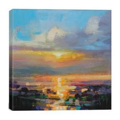 Loch Shore by Scott Naismith Canvas Print W 66 x H 66cm