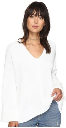 Shop Now - >  https://api.shopstyle.com/action/apiVisitRetailer?id=611034307&pid=uid6996-25233114-59 Free People - La Brea V-Neck Sweater Women's Sweater  ...