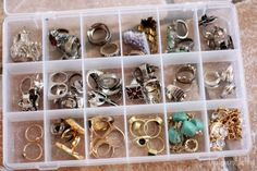 fish bait containers to organize jewelry