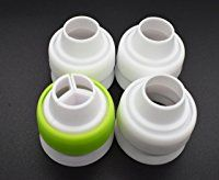 Russian Piping Tip Couplers 4Pcs/set, KOOTIPS For Large Size Icing Nozzles | Quickly & Easily Attach and Swap Piping Tips Mother Gift Frosting Recipes, Frosting Tips, Cake Recipes, Russian Piping Tips, Icing Nozzles, Amp, Cupcakes, Decorating Tools, Bakeware