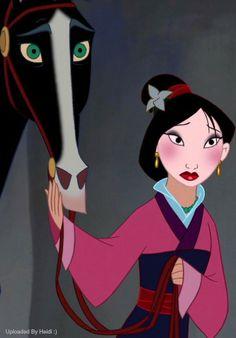 Mulan and her cow Bessy Disney Pixar, Walt Disney Animation, Disney Nerd, Disney Girls, Disney And Dreamworks, Disney Love, Disney Magic, Disney Characters, Disney Princesses