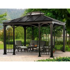 Sunjoy 12 ft. x 10 ft. Summerville Hard Top Gazebo