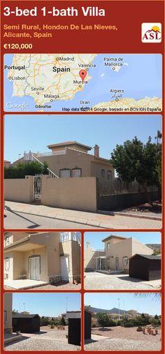 3-bed 1-bath Villa in Semi Rural, Hondon De Las Nieves, Alicante, Spain ►€120,000 #PropertyForSaleInSpain