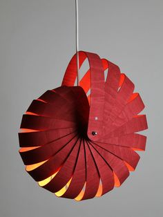Nautilus Light in Red - Rebecca Asquith - Furniture & Object Designer/Maker