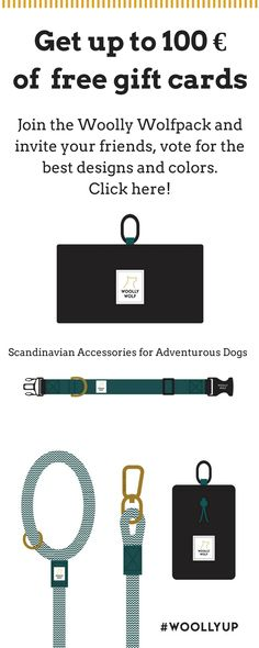 Get up to 100 € of FREE Gift cards. Woolly Wolf Rope Leashes, collars, treat bags, travel doggie bowls and more. Invite your friends and reach the next gift card level. Training Your Puppy, Dog Training Tips, Next Gifts, Rope Leash, Dog Sweaters, Free Gift Cards, Invite Your Friends, Treat Bags, Dog Accessories
