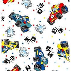 Sheetworld Fun Race Cars Fitted Bassinet Sheet