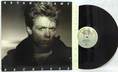 Bryan Adams #Reckless #Vinyl LP A&M Records SP 5013 US 1984 Orig. Inner Sleeve