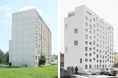 Before and after... Even old block of flats can look nice