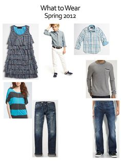 What to wear for a photography session; Spring 2012