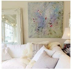 Laurence Amelie painting from Rachel Ashwell's Shabby Chic Couture in San Francisco Shabby Chic Farmhouse, Shabby Chic Homes, Shabby Chic Decor, Shabby Chic Artwork, Shabby Chic Painting, Farmhouse Ideas, Farmhouse Style, Living Room Bench, Living Room Decor