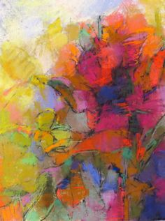 "Painting : ""Flower Abstraction"" (Original art by Debora Stewart)"
