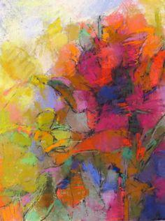 "Painting : ""Flower Abstraction"" (Original art by Debora Stewart)"