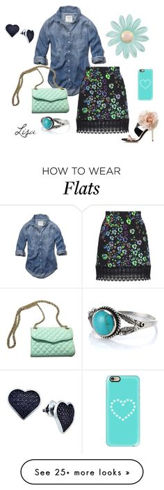 """Denim on Top"" by coolmommy44 on Polyvore featuring Abercrombie & Fitch, Andrew Gn, Rebecca Minkoff, Casetify, BillyTheTree, women's clothing, women, female, woman and misses"