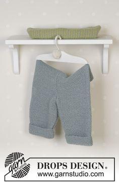 Souprava: propínací raglánový svetr - kabátek, kalhoty, hračka a deka pletené z příze DROPS Alpaca. Velikost: 1 měsíc – 4 roky.