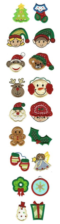Embroidery Designs | Applique Machine Embroidery Designs | Itty Bitty Christmas Applique