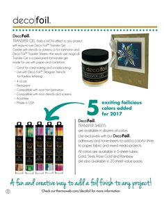 The brand NEW Therm O Web Deco Foil™ Transfer Gel is amazing! First, it adds dimension to your projects. Second, when run through a laminator with Therm O Web iCraft Deco Foil™ Transfer Sheets, it adds foiling too! It is the perfect medium to use with a stencil. Here I used it with a Penny …Read more...