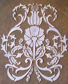 Raised Plaster Floral Damask Stencil, Craft Stencil, Wall Stencil, Furniture Stencil, Painting Stencil
