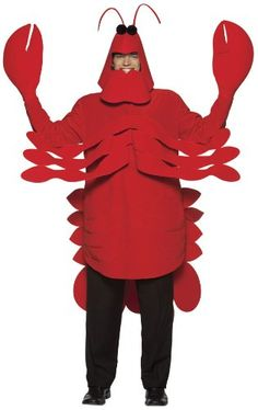 Lobster costume - I'd bet I could make this. Red shirt, red felt ... it could work.