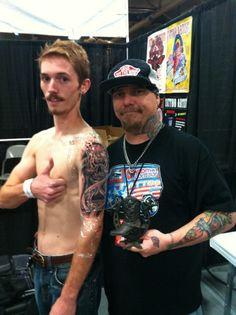 Tattoo of the day!   Austin, Texas,  Tattoo art Revival 2013.  Tattoo by Rick Trip, www.tripinktattooco.com Las Vegas!!