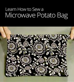 Love the taste of baked potatoes, but don't have the time to cook them in the oven? Learn how to sew a reusable microwave potato bag in minutes.