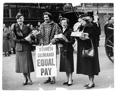 reinopin: Great Britain; 1955: Barbara Castle with the Equal Pay Campaign