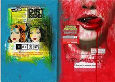 Dirt Rider  2008, Mixed media, 42 x 29,7 cm