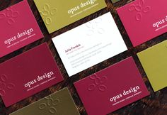 embossing business cards from moo.com