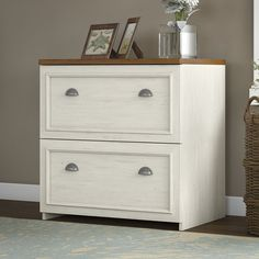 Amazon.com: Fairview Lateral File Cabinet in Antique White: Kitchen & Dining